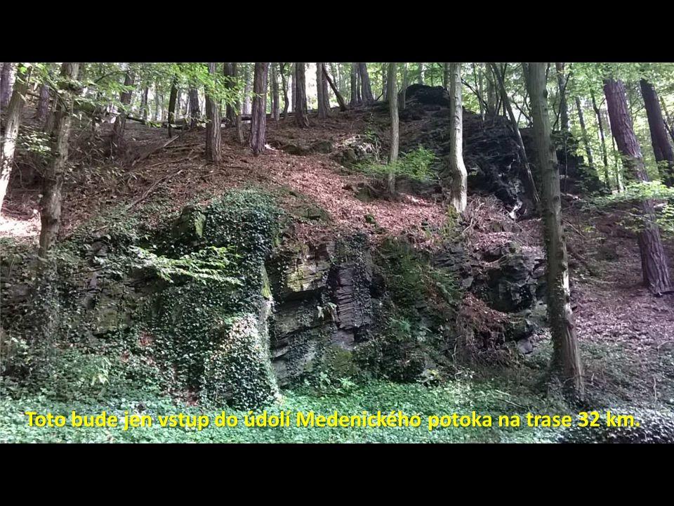 Toto bude jen vstup do údolí Medenického potoka na trase 32 km.