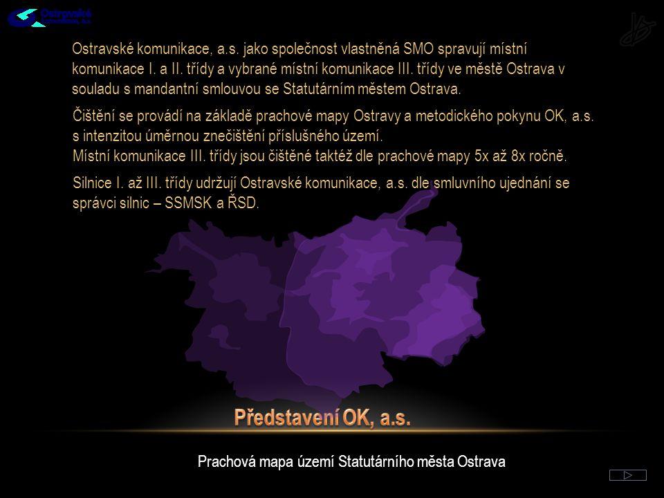 Prachová mapa území Statutárního města Ostrava Ostravské komunikace, a.s.