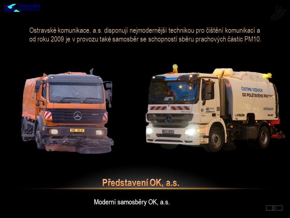 Místní komunikace I.– II. třídy ve správě OK, a.s., v majetku SMO a vybrané MK III.
