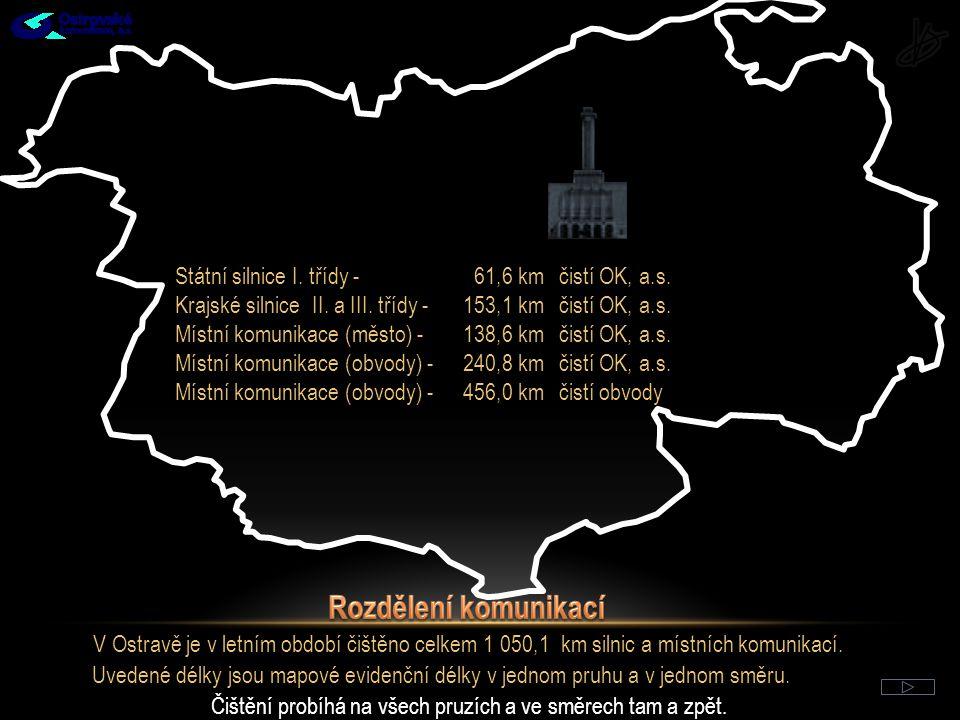 Státní silnice I.třídy - 61,6 kmčistí OK, a.s. Krajské silnice II.