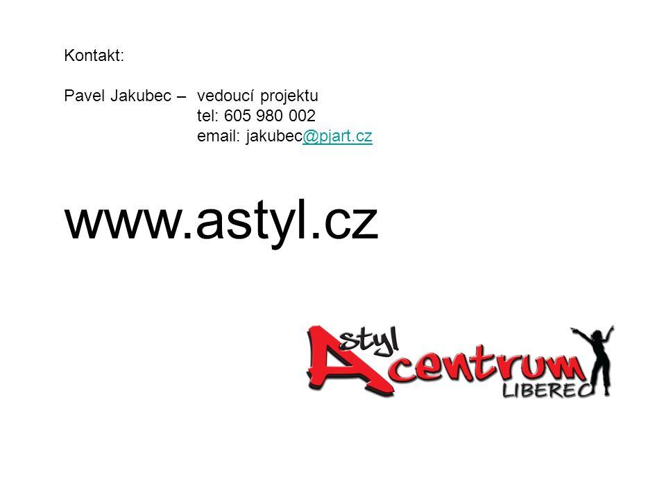 Kontakt: Pavel Jakubec – vedoucí projektu tel: 605 980 002 email: jakubec@pjart.cz@pjart.cz www.astyl.cz
