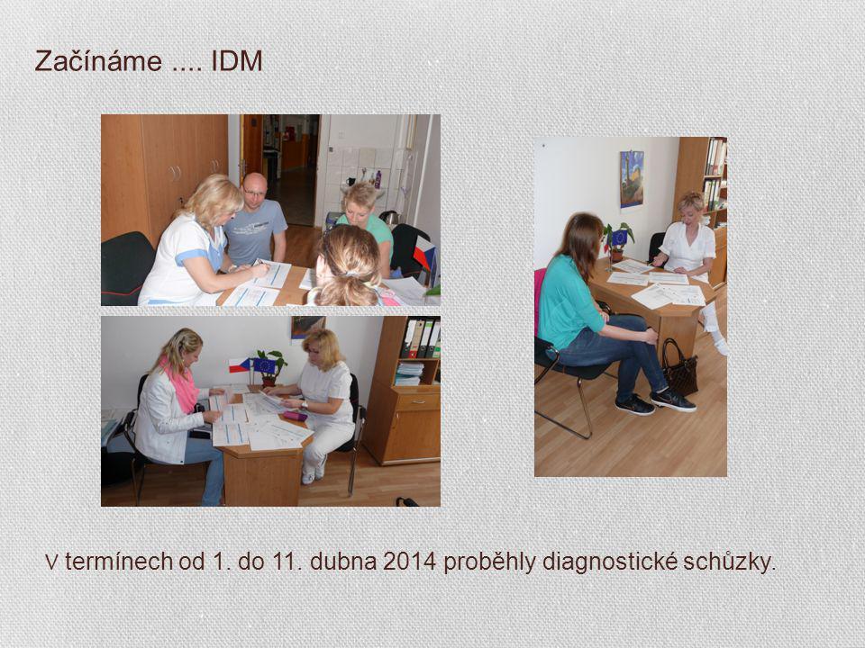 Začínáme.... IDM V termínech od 1. do 11. dubna 2014 proběhly diagnostické schůzky.