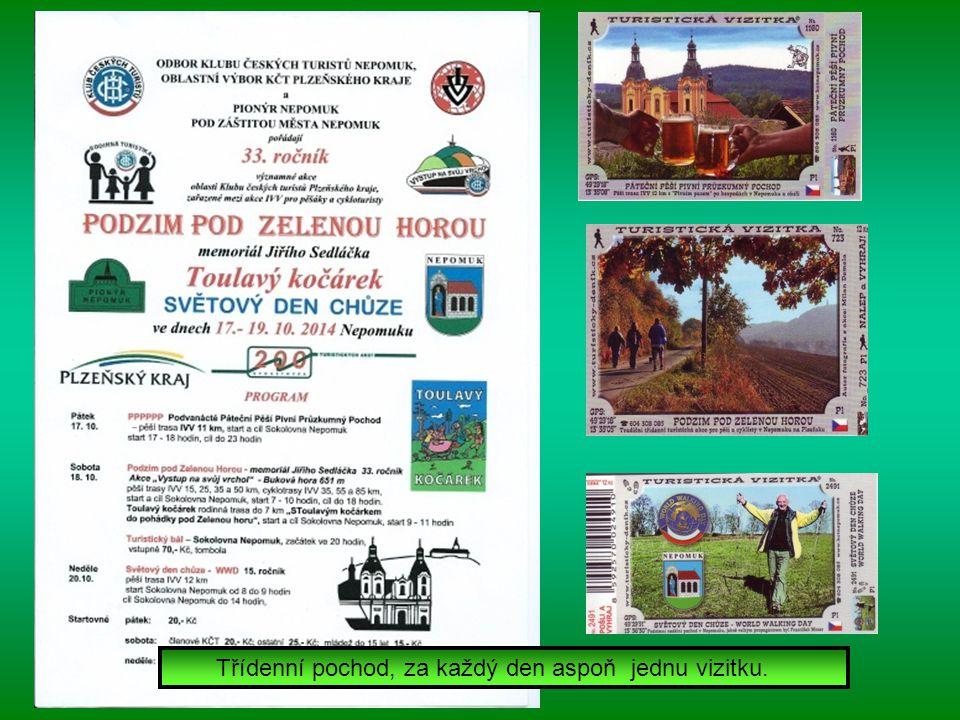PODZIM POD ZELENOU HOROU 33. ročník turistické akce ve dnech 17.-19.10.2014 v Nepomuku