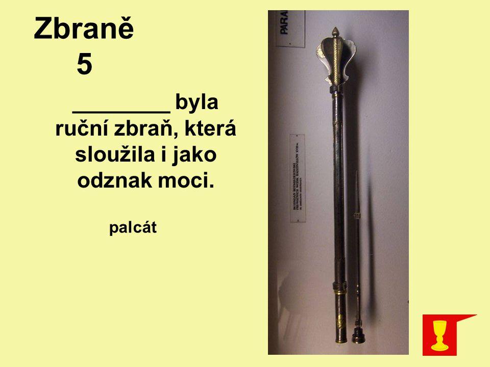________ byla ruční zbraň, která sloužila i jako odznak moci. palcát Zbraně 5