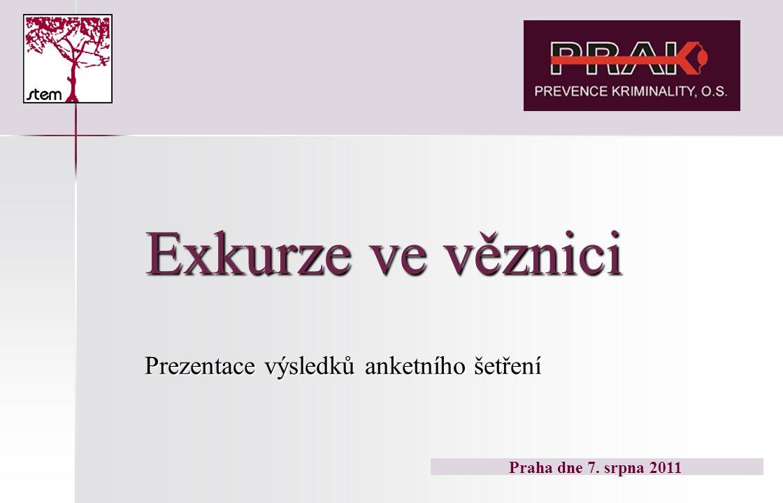 Exkurze ve věznici Prezentace výsledků anketního šetření Praha dne 7. srpna 2011