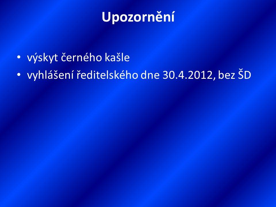 Organizace školního roku 2012/2013 dle výsledků přijímacích řízení sloučení 5. a 7. ročníků