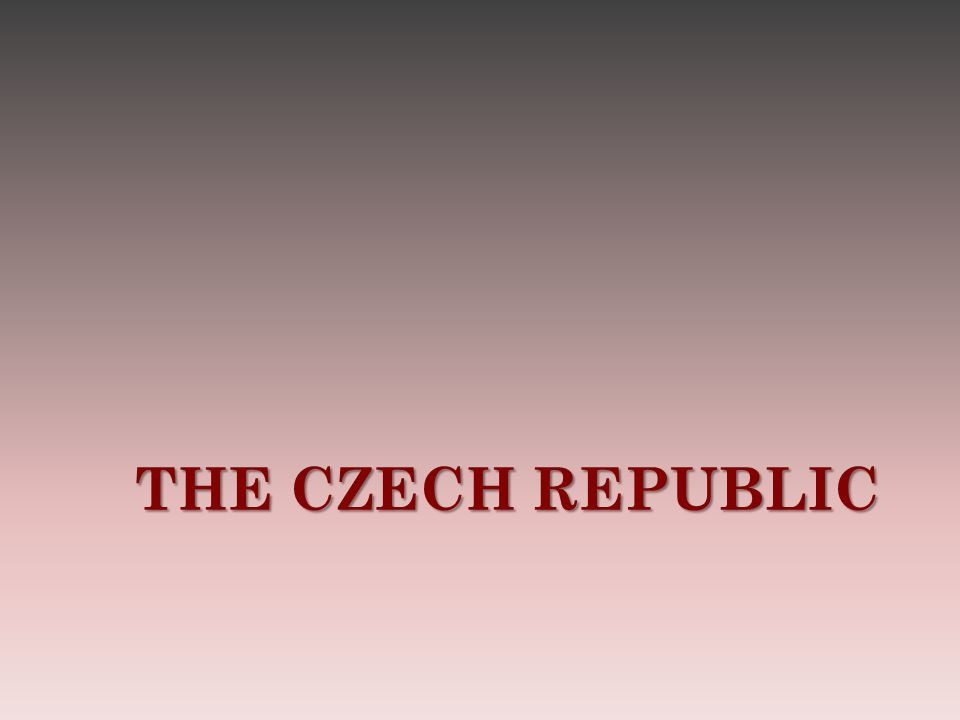 W RITE DOWN AT LEAST FIVE POINTS THAT ARE CONNECTED WITH THE C ZECH R EPUBLIC 1.