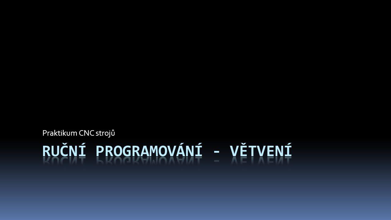 Větvení  Větvením programu myslíme možnost používat podprogramy, části podprogramů, nebo skoky mezi programy  Např.