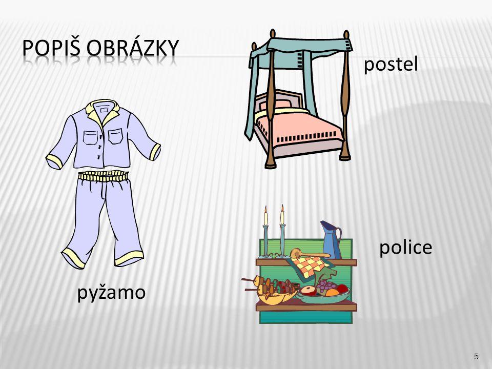 postel 5 pyžamo police