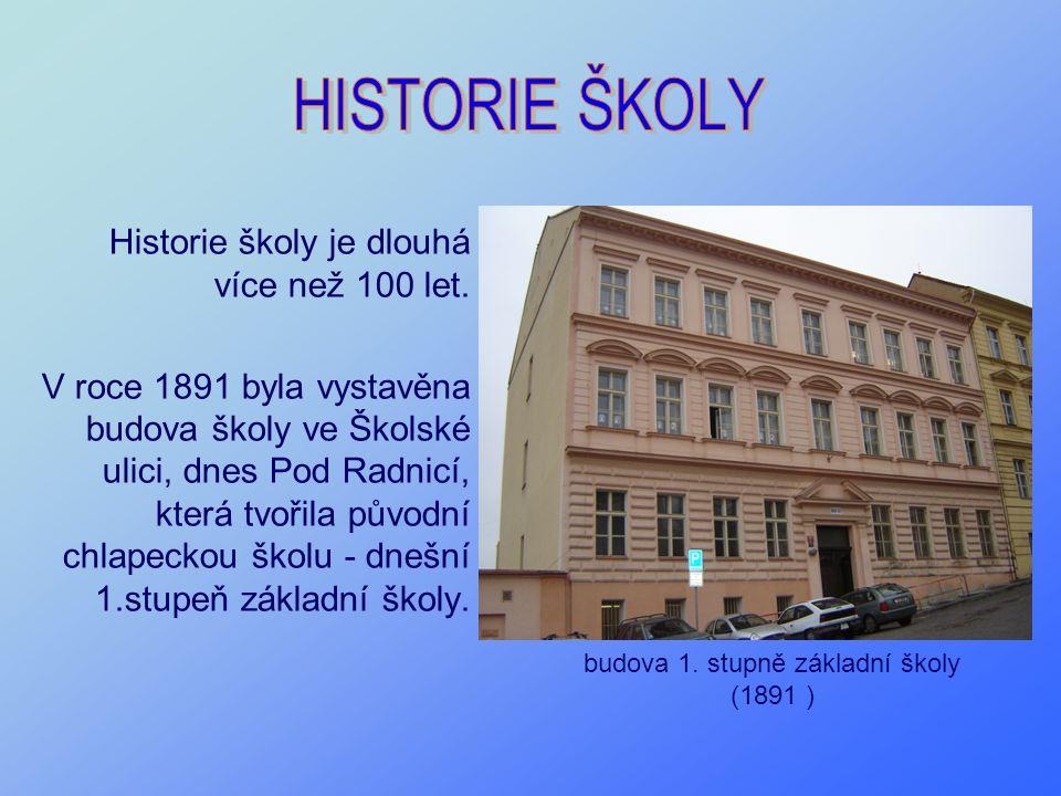 Historie školy je dlouhá více než 100 let. V roce 1891 byla vystavěna budova školy ve Školské ulici, dnes Pod Radnicí, která tvořila původní chlapecko