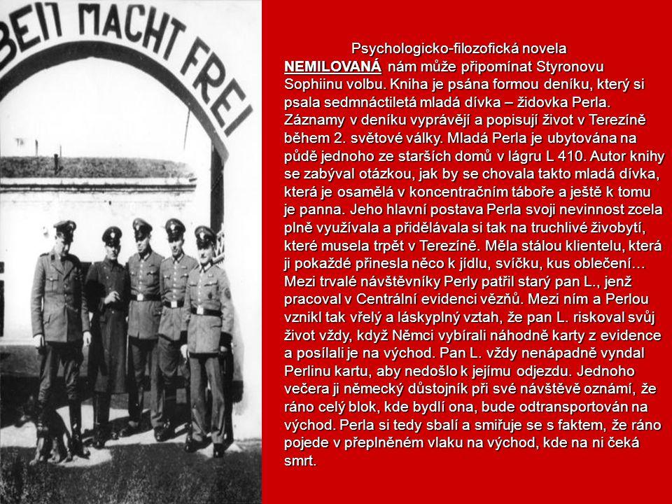ARNOŠT LUSTIG je autorem, který v dílech ztvárňuje utrpení židů v táborech, ale jinak než dosavadní literatura. Lustig se totiž nestal nikdy členem ko