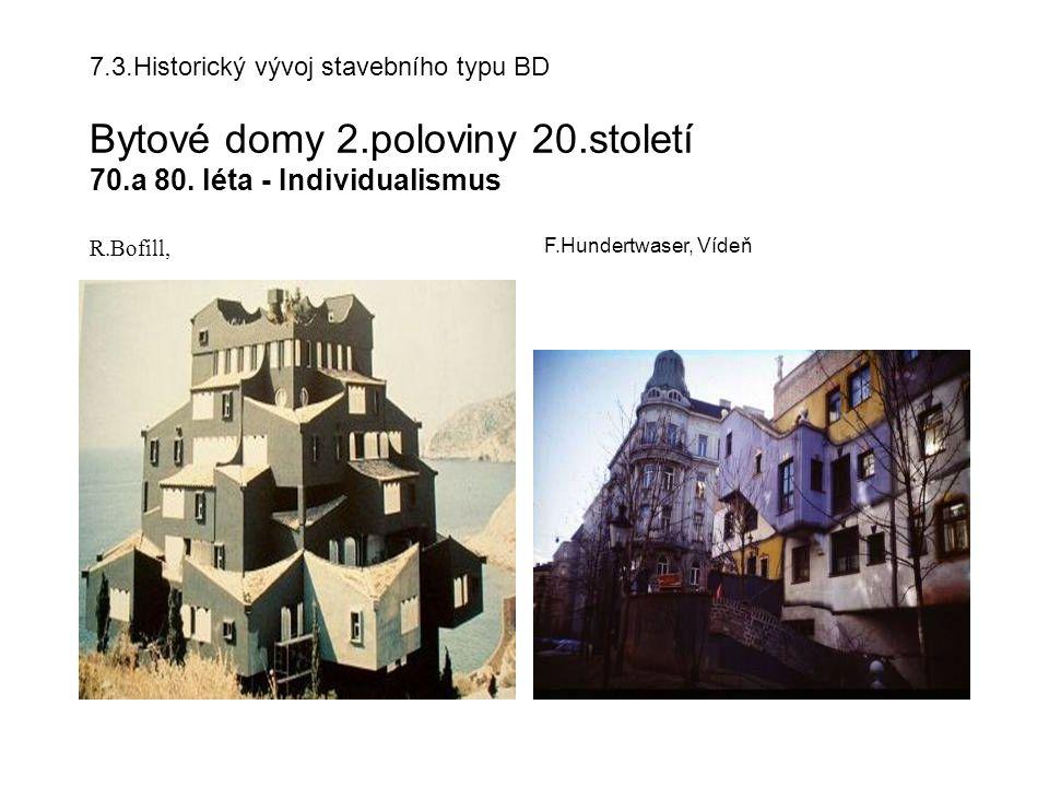 7.3.Historický vývoj stavebního typu BD Bytové domy 2.poloviny 20.století 70.a 80.