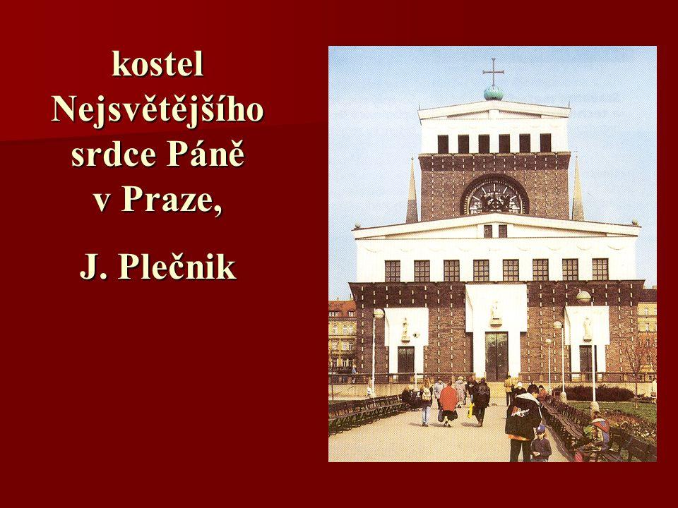 kostel Nejsvětějšího srdce Páně v Praze, J. Plečnik