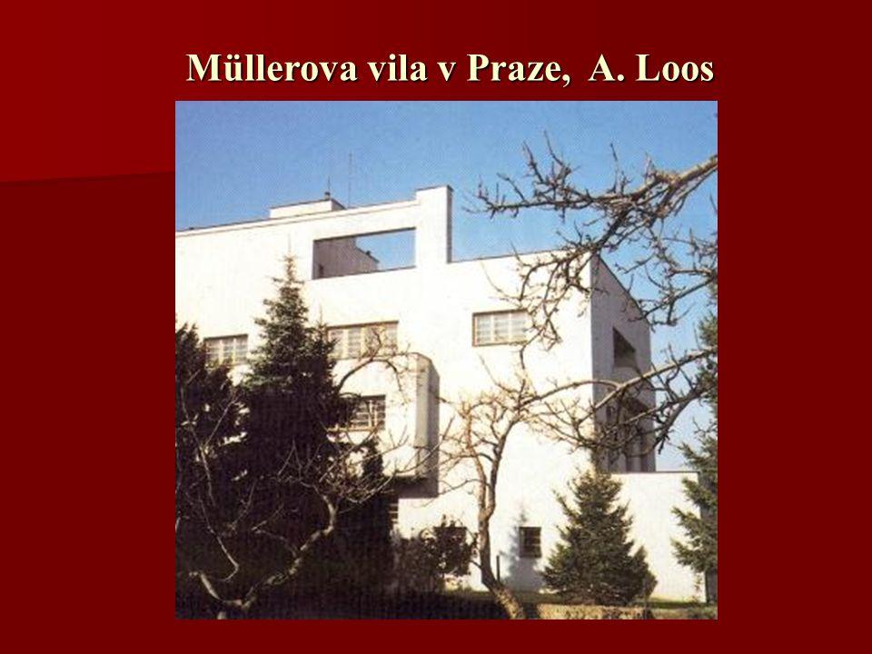 Müllerova vila v Praze, A. Loos