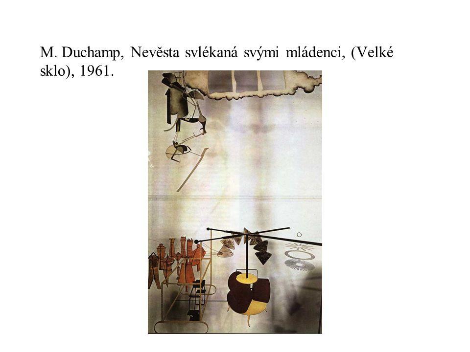 M. Duchamp, Nevěsta svlékaná svými mládenci, (Velké sklo), 1961.