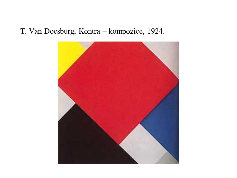 T. Van Doesburg, Kontra – kompozice, 1924.