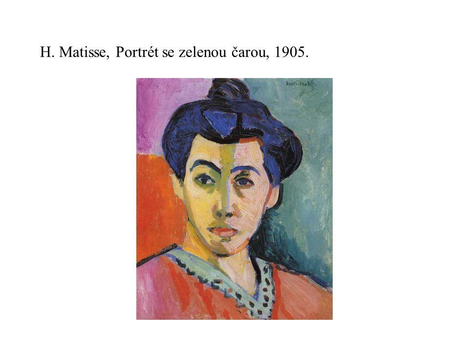 H. Matisse, Portrét se zelenou čarou, 1905.