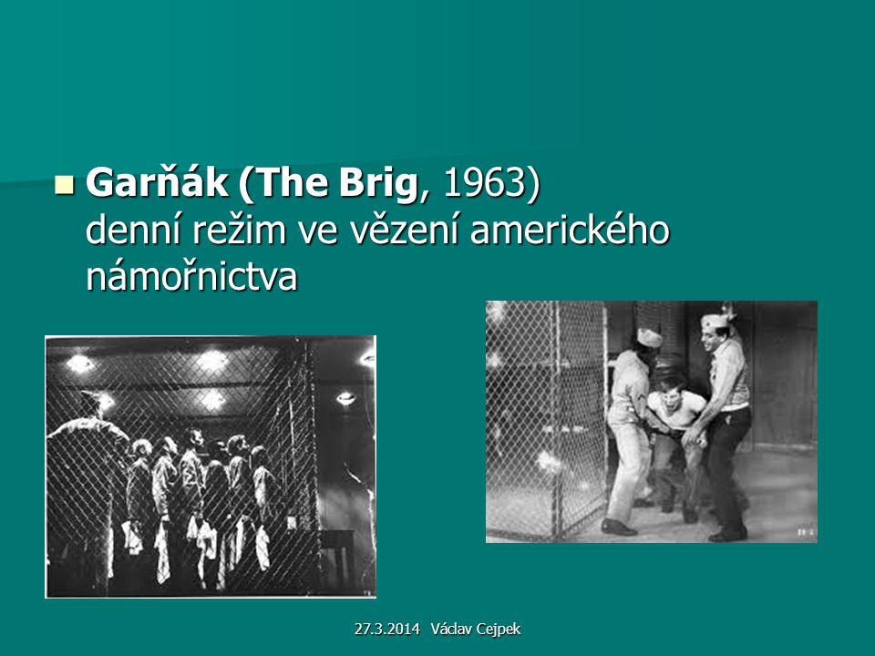 Garňák (The Brig, 1963) denní režim ve vězení amerického námořnictva Garňák (The Brig, 1963) denní režim ve vězení amerického námořnictva 27.3.2014 Vá