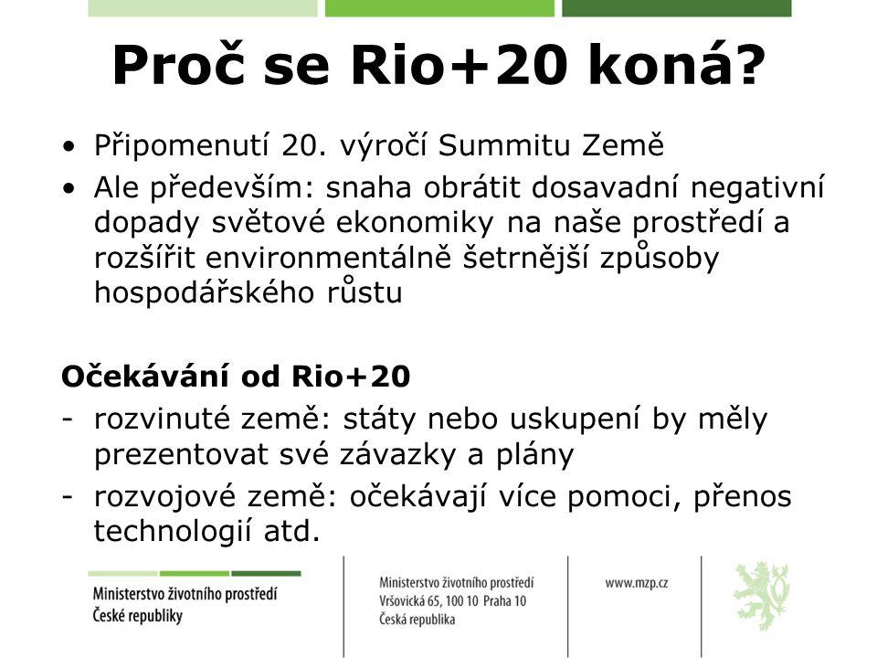 Proč se Rio+20 koná. Připomenutí 20.