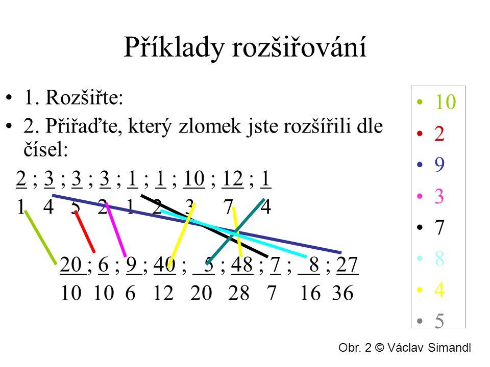 Příklady rozšiřování 10 2 9 3 7 8 4 5 1. Rozšiřte: 2.