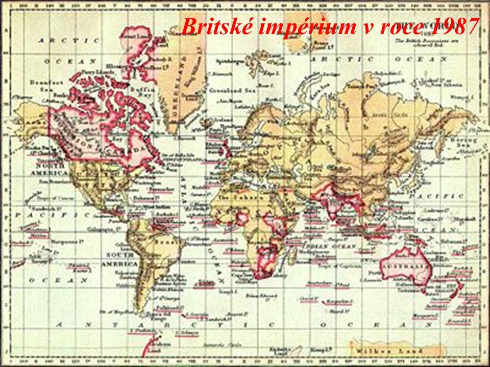 Britské impérium v roce 1987