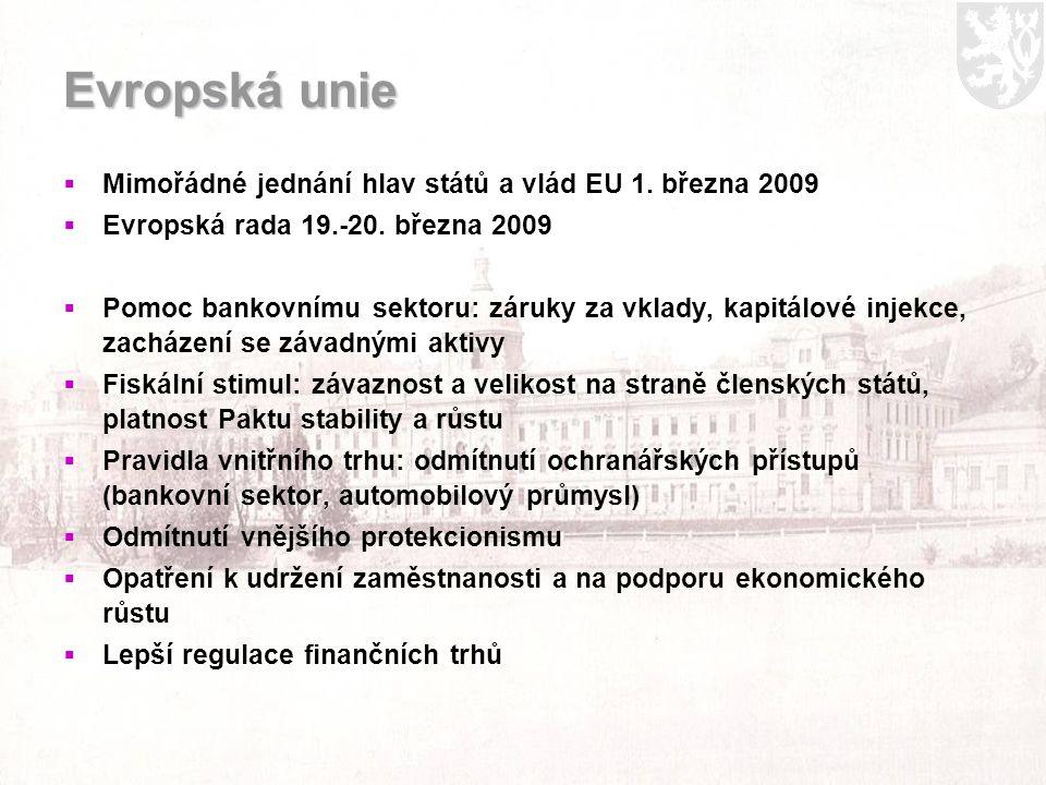 Evropská unie  Mimořádné jednání hlav států a vlád EU 1.