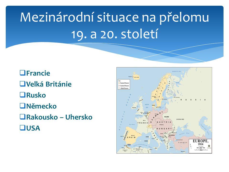 Mezinárodní situace na přelomu 19.a 20.