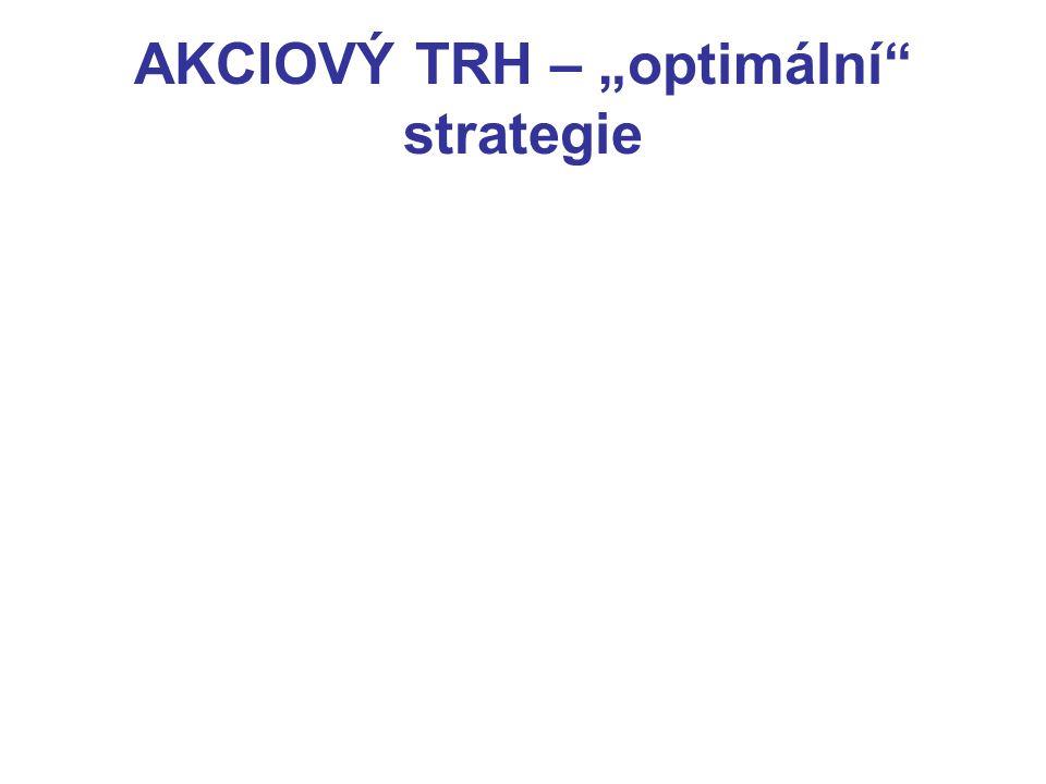 """AKCIOVÝ TRH – """"optimální"""" strategie"""