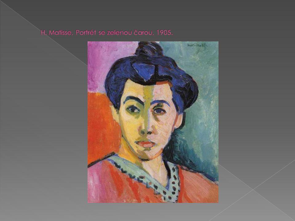 E.L. Kirchner, Ležící modrý akt se slaměným kloboukem, 1908-09.