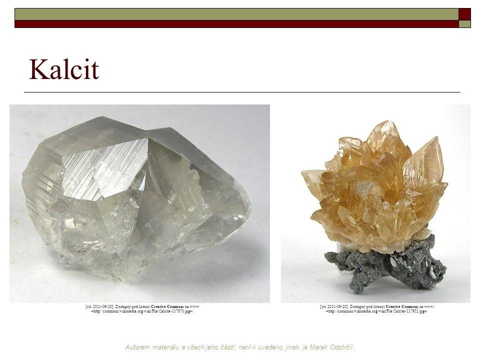 Autorem materiálu a všech jeho částí, není-li uvedeno jinak, je Marek Odstrčil. Kalcit [cit. 2011-09-20]. Dostupný pod licencí Creative Commons na www
