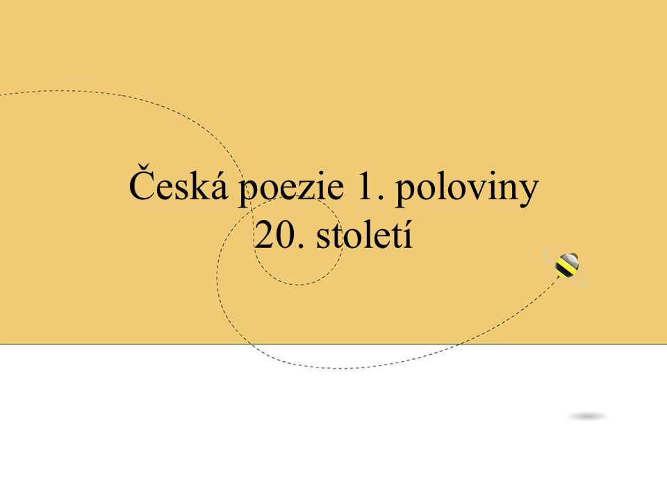 Jaroslav Seifert básník, novinář, spisovatel, překladatel národní umělec - 1967 Nobelova cena – 1984 mezi prvními signatáři Charty 77 díla a) proletářská poezie – Město v slzách (svět bez bídy) b) poetismus – Na vlnách TSF (bezdrátový rozhlas), Poštovní Holub c) 30.