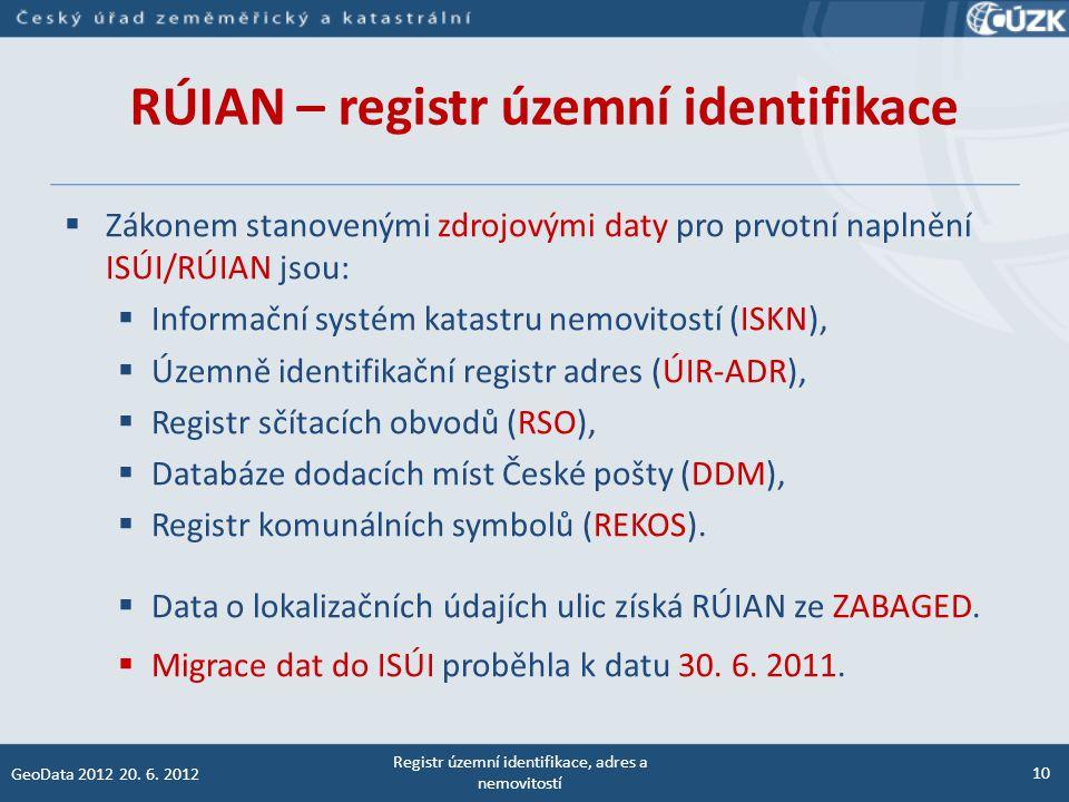 Editoři RÚIAN  Editace dat v RÚIAN probíhá přes dva editační agendové informační systémy (ISKN, ISÚI).