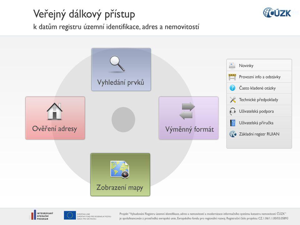Výměnný formát RÚIAN (VFR)  Aplikace VDP bude poskytovat dva základní výměnné formáty (VFR), a to v závislosti na platnosti požadovaných informací:  měsíční kopie (stavová data),  změnové věty (denní perioda).