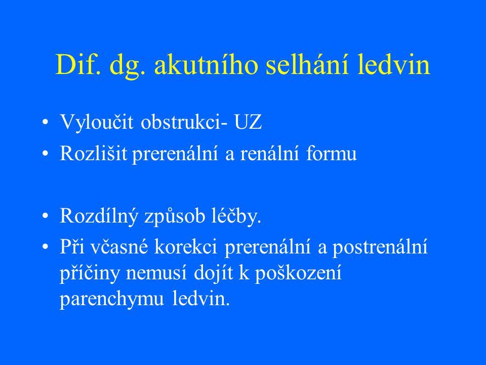Parametry k rozlišení prerenálního a renálníno ASL prerenální renální novoroz.