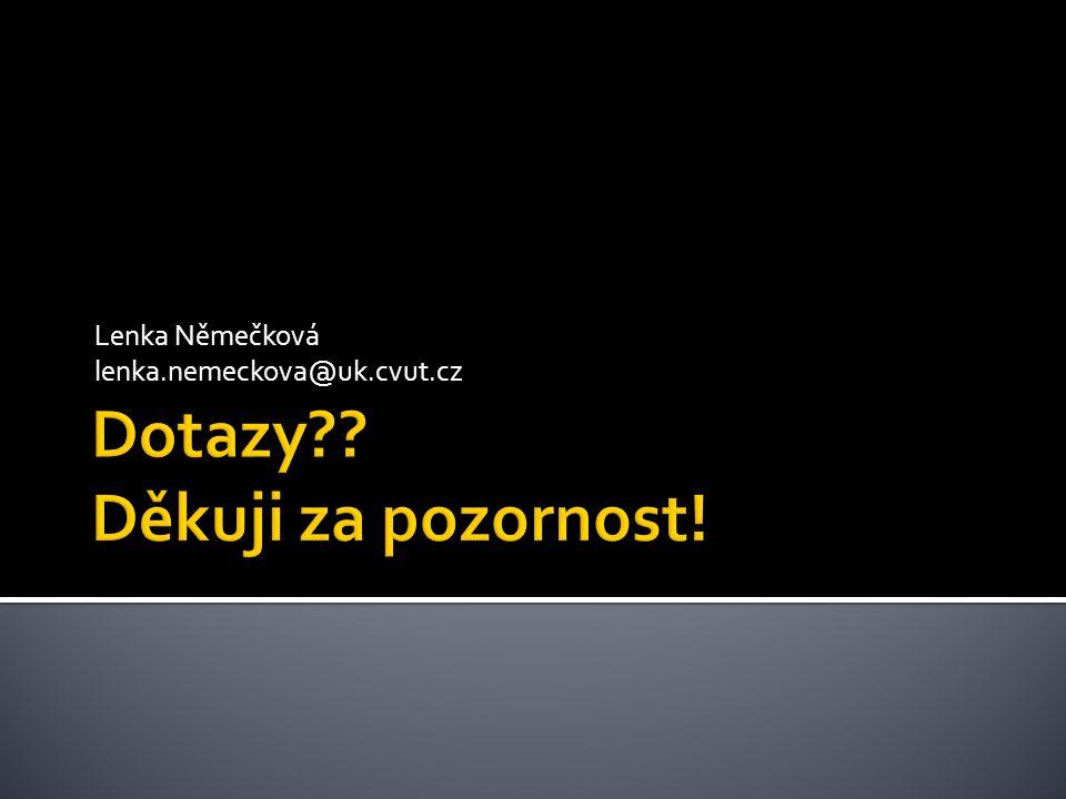 Lenka Němečková lenka.nemeckova@uk.cvut.cz