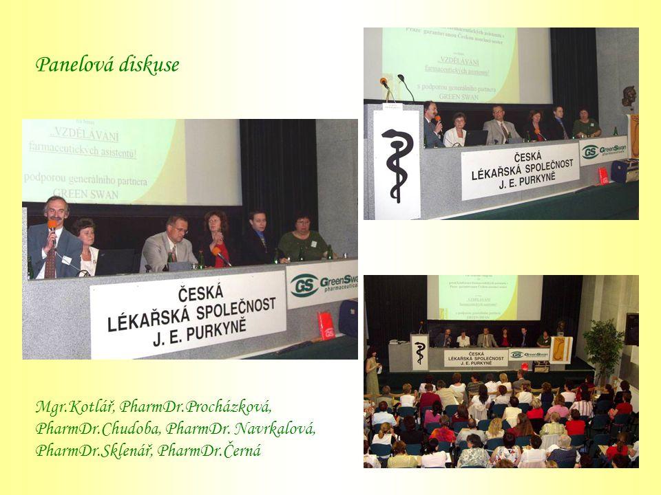 Panelová diskuse Mgr.Kotlář, PharmDr.Procházková, PharmDr.Chudoba, PharmDr. Navrkalová, PharmDr.Sklenář, PharmDr.Černá