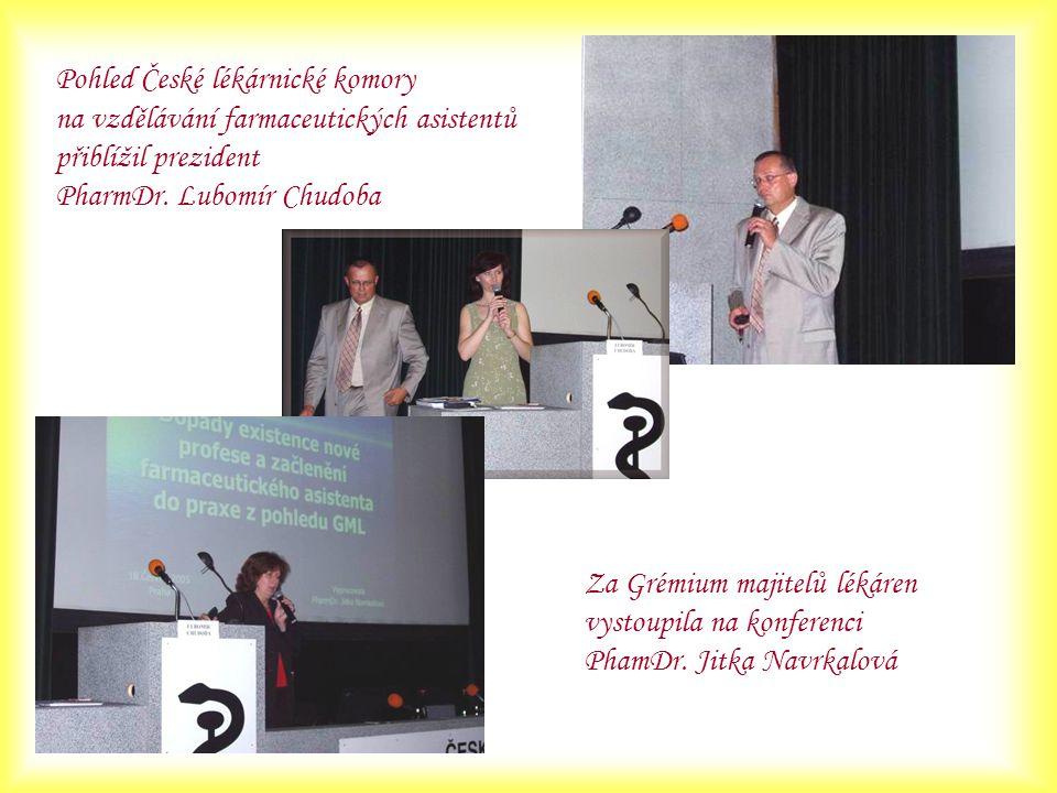 Pohled České lékárnické komory na vzdělávání farmaceutických asistentů přiblížil prezident PharmDr. Lubomír Chudoba Za Grémium majitelů lékáren vystou