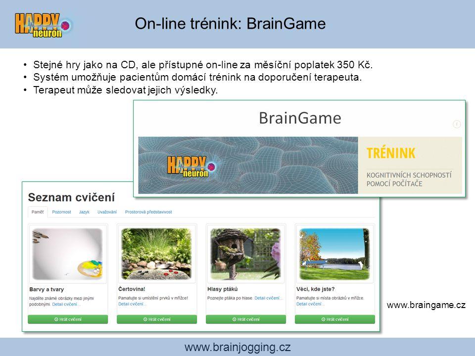 Studie účinnosti cvičení HAPPYneuron: = Nezávislé ověření, jak HAPPYneuron Brain Jogging zlepšuje kognitivní funkce www.brainjogging.cz On-line trénin
