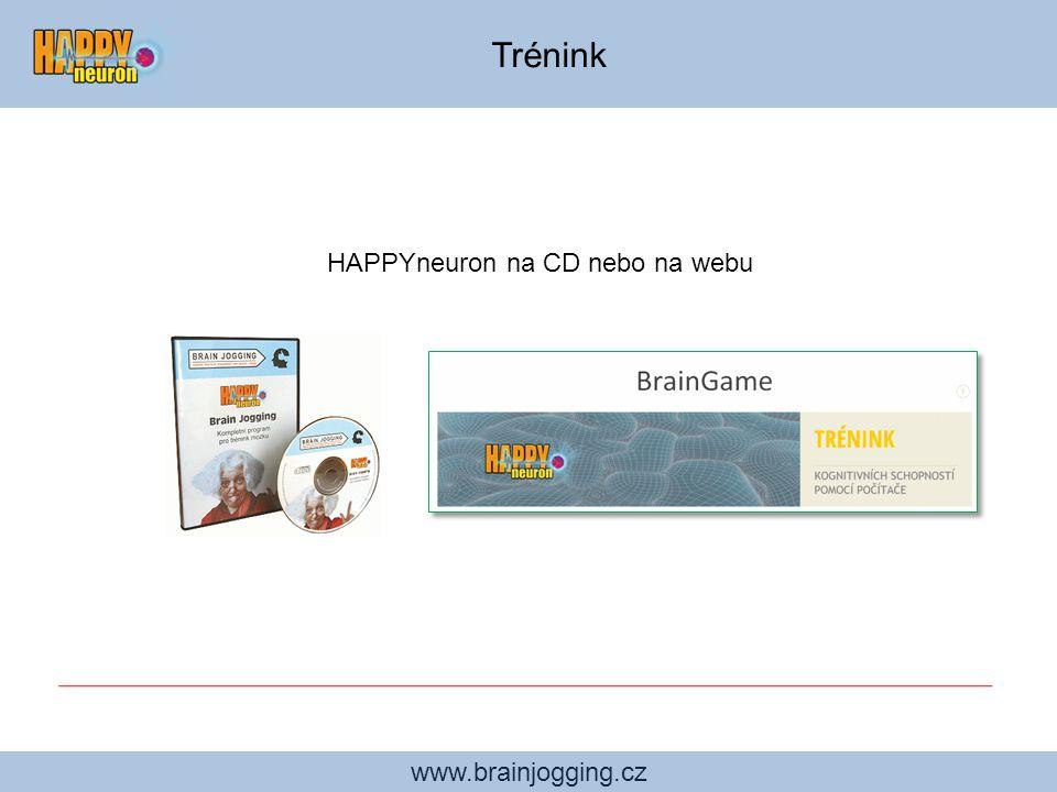 www.brainjogging.cz Uživatelské rozhraní 20 her na CD umožňuje cvičení až dvanácti osobám na jednom počítači.