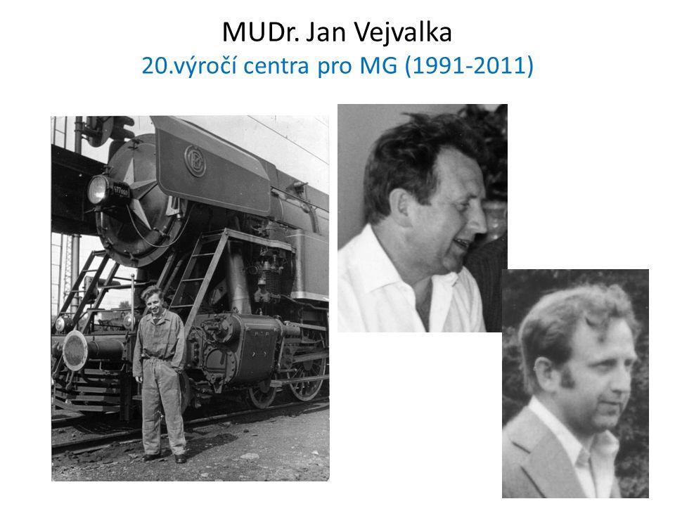 MUDr. Jan Vejvalka 20.výročí centra pro MG (1991-2011)