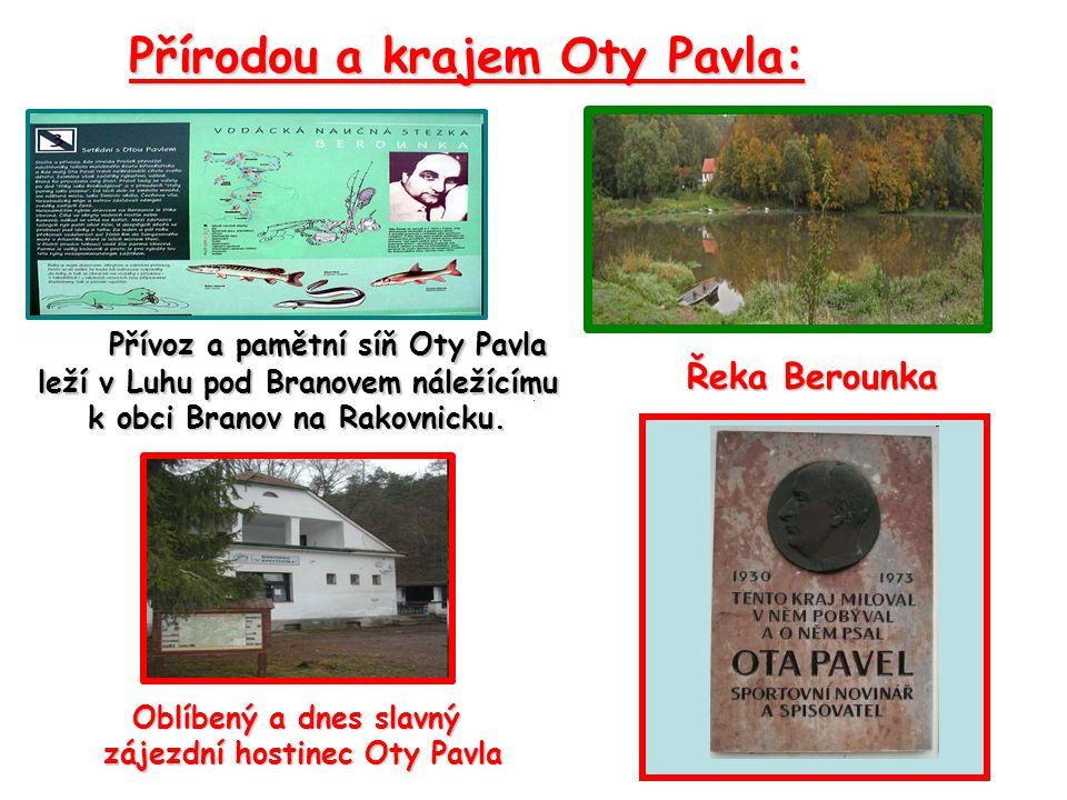 Přívoz a pamětní síň Oty Pavla leží v Luhu pod Branovem náležícímu k obci Branov na Rakovnicku.