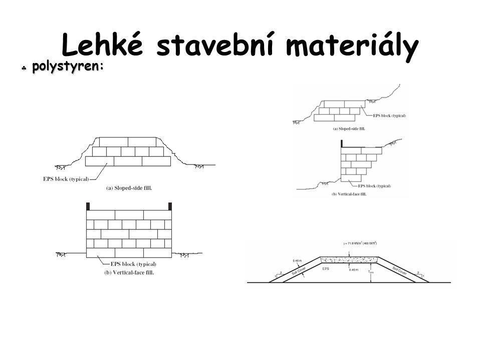  polystyren: Lehké stavební materiály