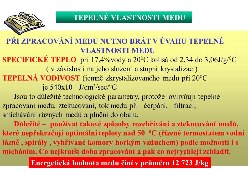 FYZIKÁLNÍ VLASTNOSTI PROPOLISU -BOD TÁNÍ A TUHNUTÍ - 60 – 70 0 C -MĚRNÁ HMOTNOST- 1,120-1,136 /v závislosti na množství vosku/ -KONZISTENCE- mezi 25-45 0 C měkký poddajný, lepivý- nad 45 0 C silně lepivý až gumový, pod 15 0 C tvrdý,po zmražení křehký -BARVA-se mění od žluté až k tmavě hnědé -ROZPUSTNOST-alkohol, glykol -nejlépe ve vodno-alkoholovém prostředí / 80 %/, čím nižší koncentrace alkoholu, tím méně látek se rozpustí.