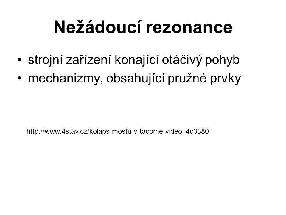 Nežádoucí rezonance strojní zařízení konající otáčivý pohyb mechanizmy, obsahující pružné prvky http://www.4stav.cz/kolaps-mostu-v-tacome-video_4c3380