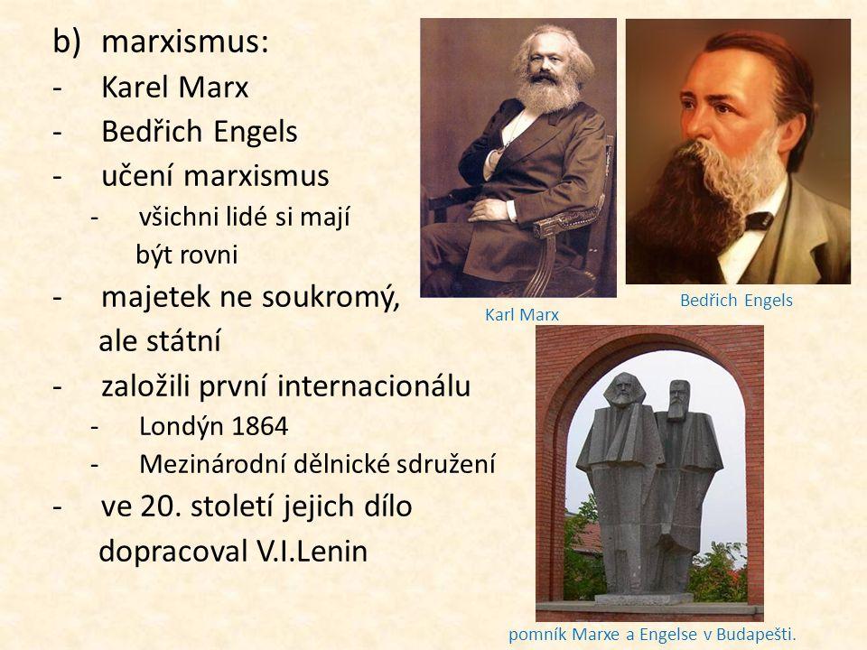 Karel Marx Marxův podpis Marx v době studentských let Karl Marx (vpravo) a Friedrich Engels, vpředu Marxova žena Jenny a jejich dcery Laura a Eleanor Hrob Karla Marxe v Londýně.
