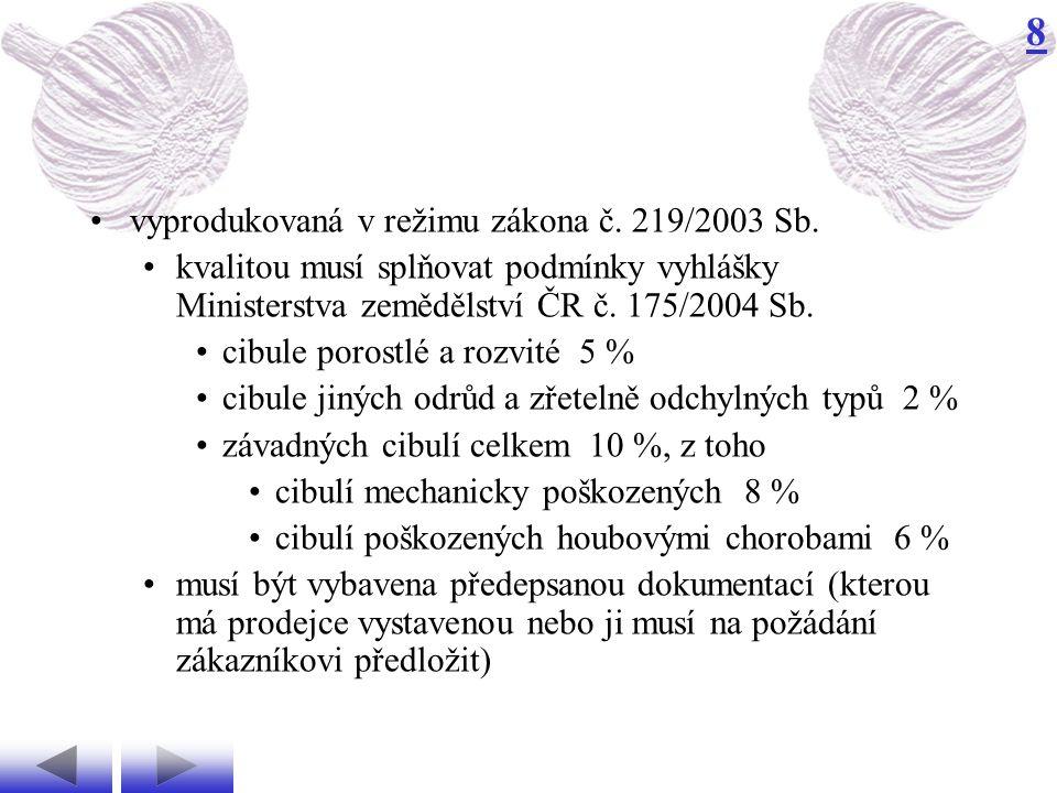8 kvalitou musí splňovat podmínky vyhlášky Ministerstva zemědělství ČR č.