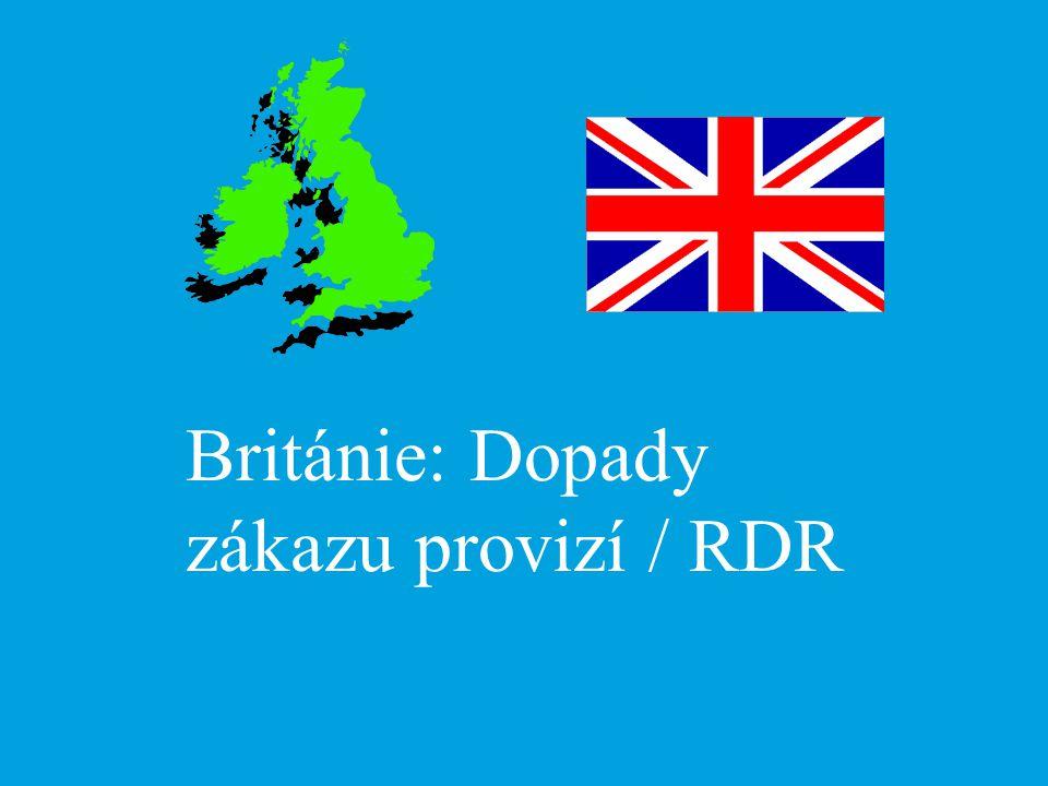 Británie: Dopady zákazu provizí / RDR