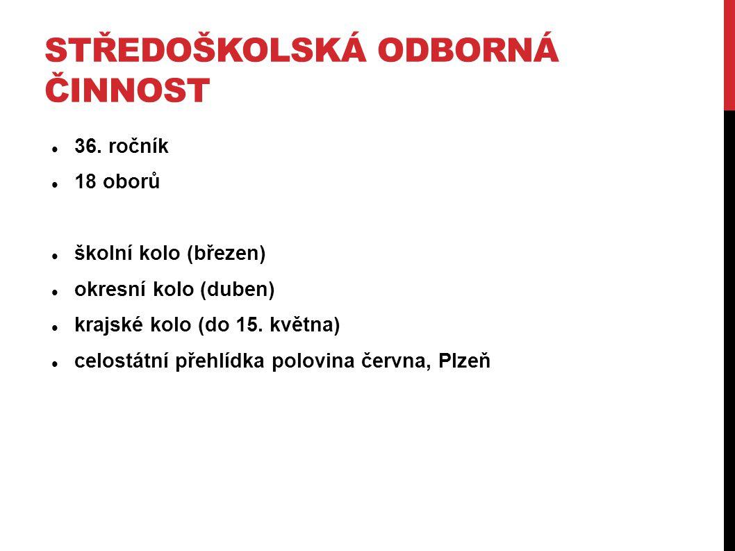 STŘEDOŠKOLSKÁ ODBORNÁ ČINNOST 36.