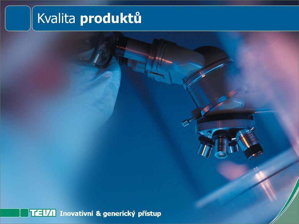 Inovativní & generický přístup 16 Kvalita produktů Kvalita služeb