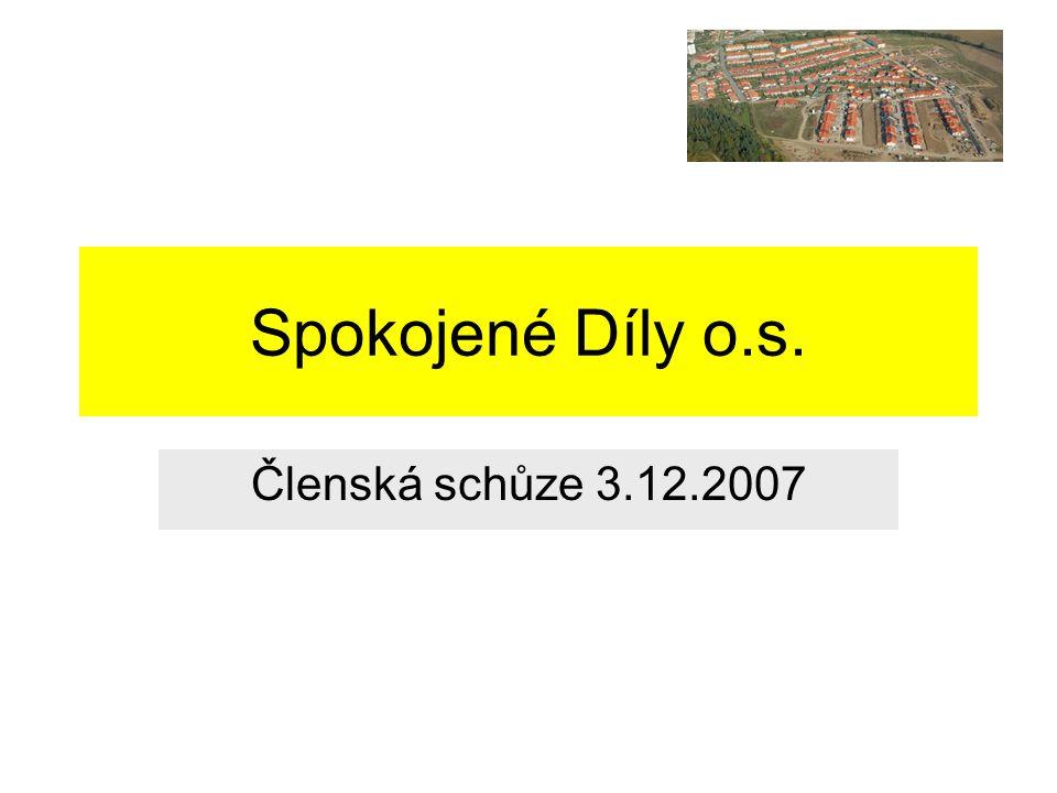Agenda Informace k ustavující schůzi Stávající územní plán (19:00 – 19:15) Záměry investorů a města (19:15 – 19:45) Názory a doplňující dotazy pro MÚ (19:45 – 20:00) Další problémy na Dílech (20:00 – 20:15) Naše komunitní aktivity na prosinec a leden 2007 (20:15 – 20:30) Komunikační kanál a termín dalšího setkání (20:30)